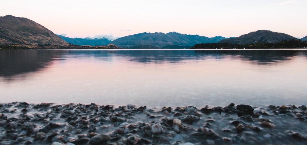 Lever du soleil sur le lac de wanaka-New Zealand-Sarah Galvan Photographe